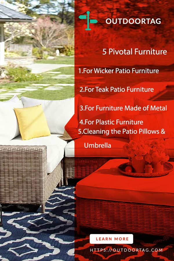 How to Clean Patio Furniture with Vinegar