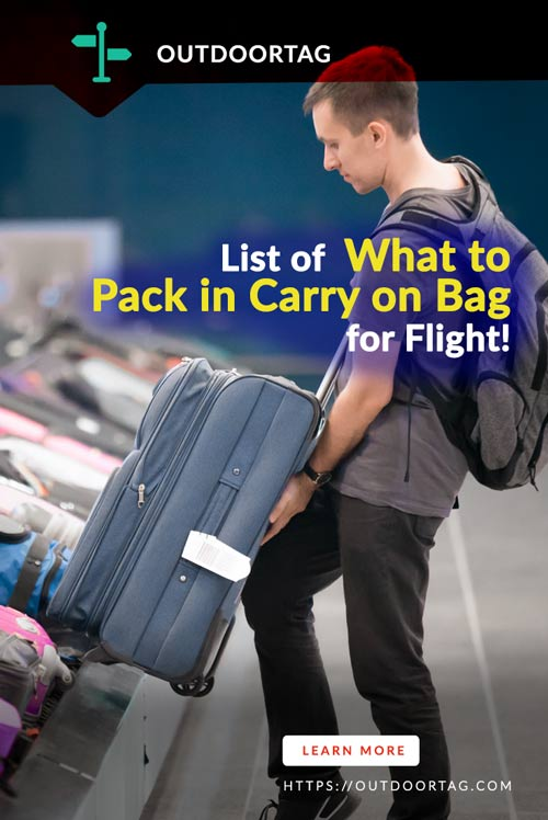 Making Your List of What to Pack in Carry on Bag for Fligh