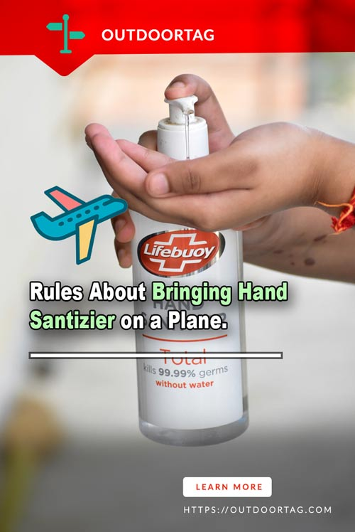 Rules About Bringing Hand Santizier on a Plane.